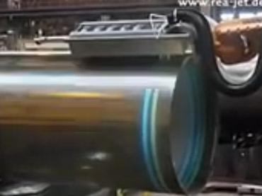 Marcação de Anéis em Tubos - Sistema Spray para Pontos, Faixas e Caracteres